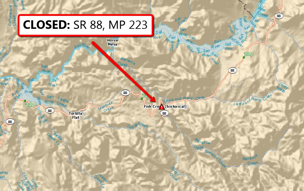 Iuk Campus Map.Closed A Crash Has Closed Sr 88 In Both Directions At Milepost 223