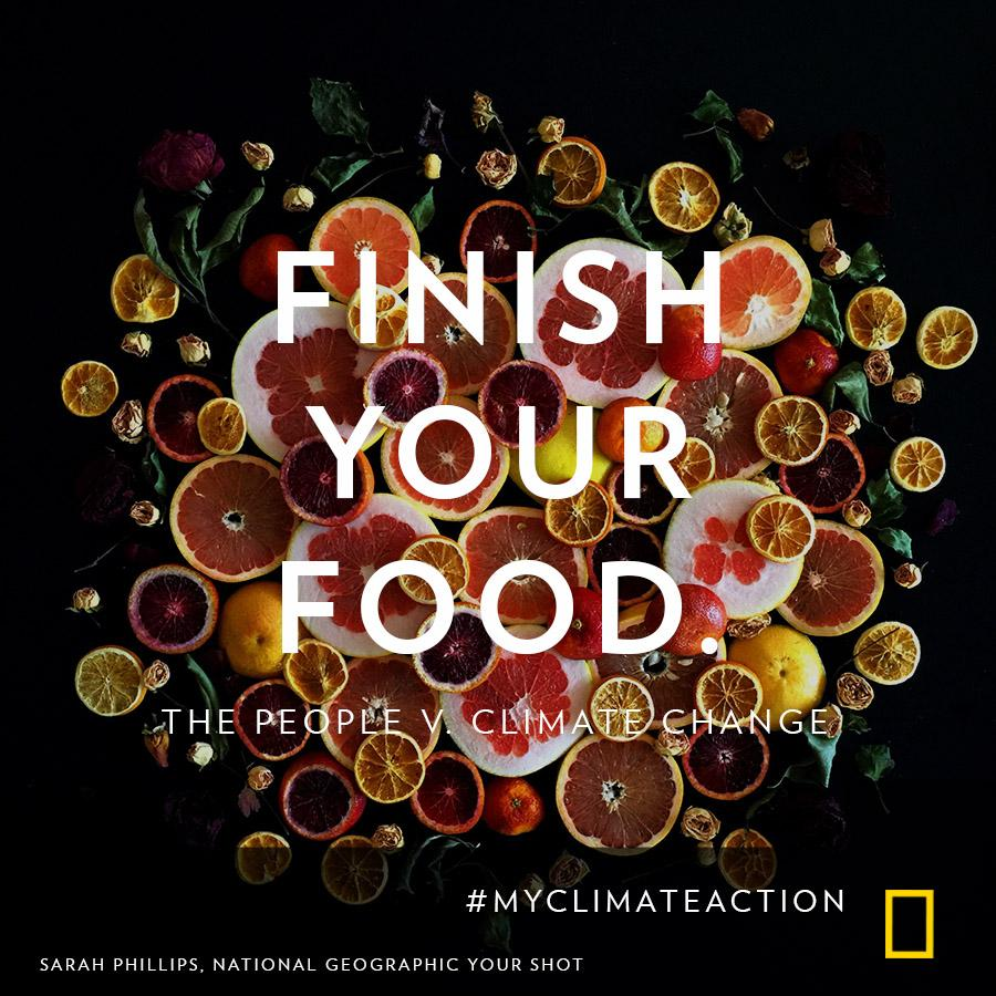 RT @NatGeo Each year, wasted food around the globe is equivalent to about 3 billion tons of CO2 #MyClimateAction
