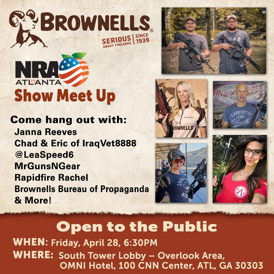 brownells inc brownellsinc twitter 10 days who is coming to hang out us at the omni after the first day of the nra show brownells guns nrapic com vya20kpevl