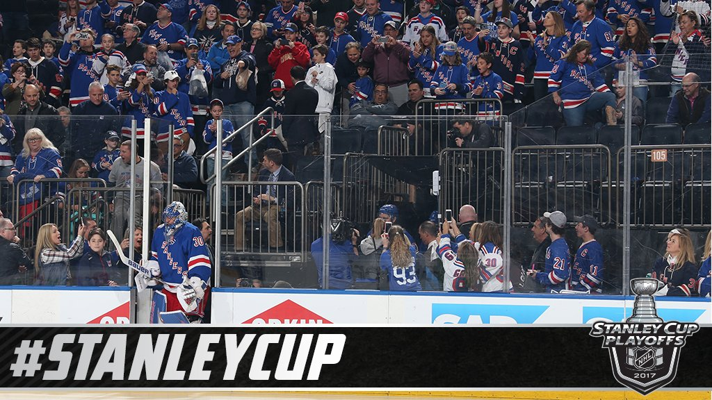 Things will be quite blue tonight.   The @NYRangers are okay with that...