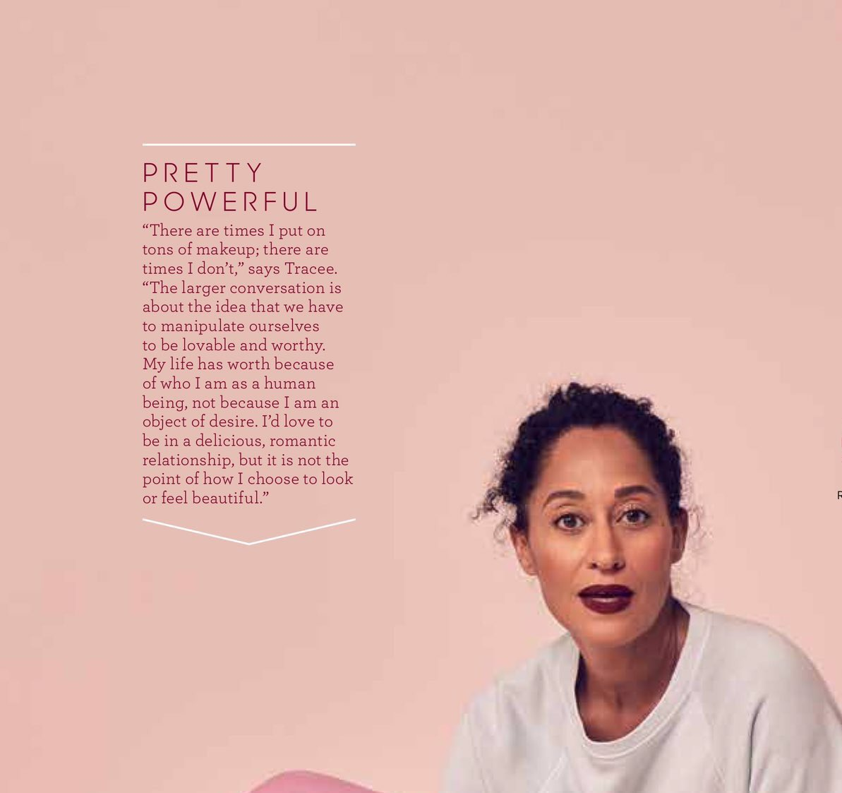 &quot;My life has worth because of who I am as a human being, not because I am an object of desire&quot; Thank U @TraceeEllisRoss #powerful <br>http://pic.twitter.com/xmODgnGpll