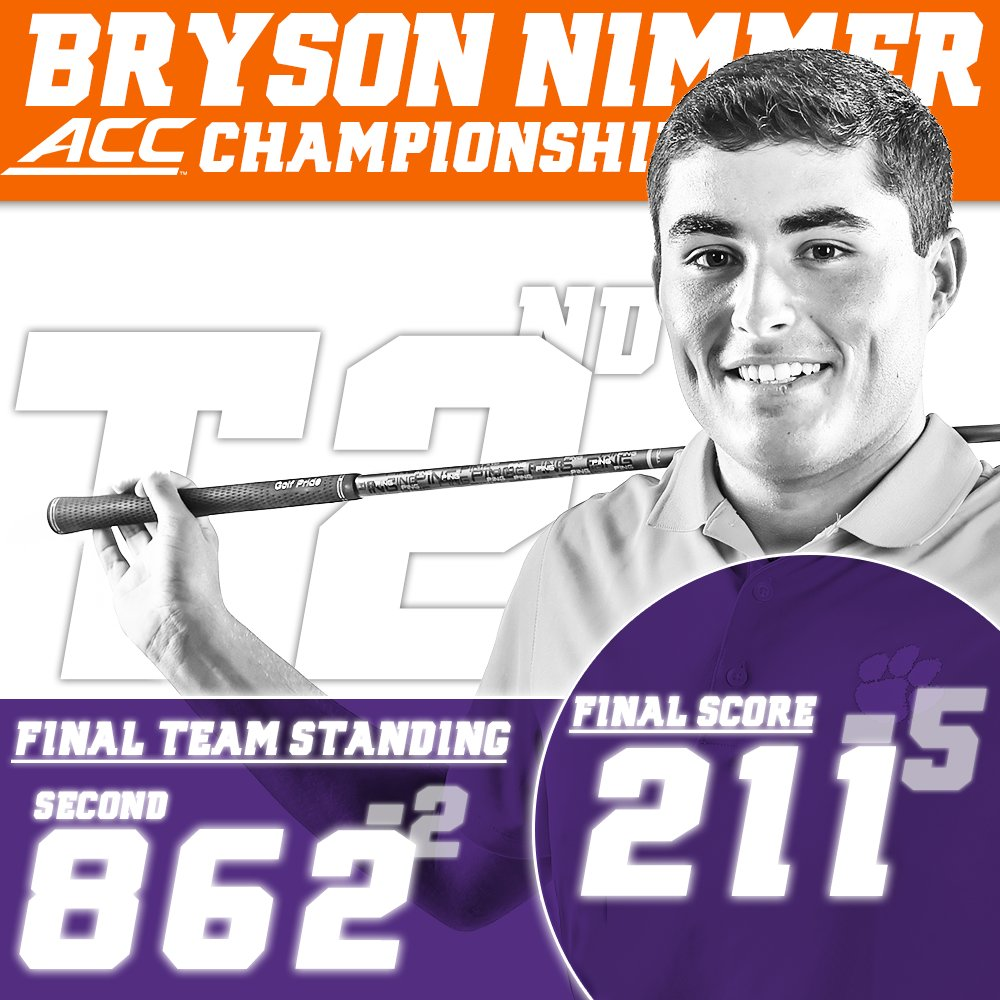 Nimmer is the first Tiger with consecutive top four finishes at the ACC tourn. since Jack Ferguson in 2003-05. 📝https://t.co/BC9FBd0d5H https://t.co/FReY84PHxx