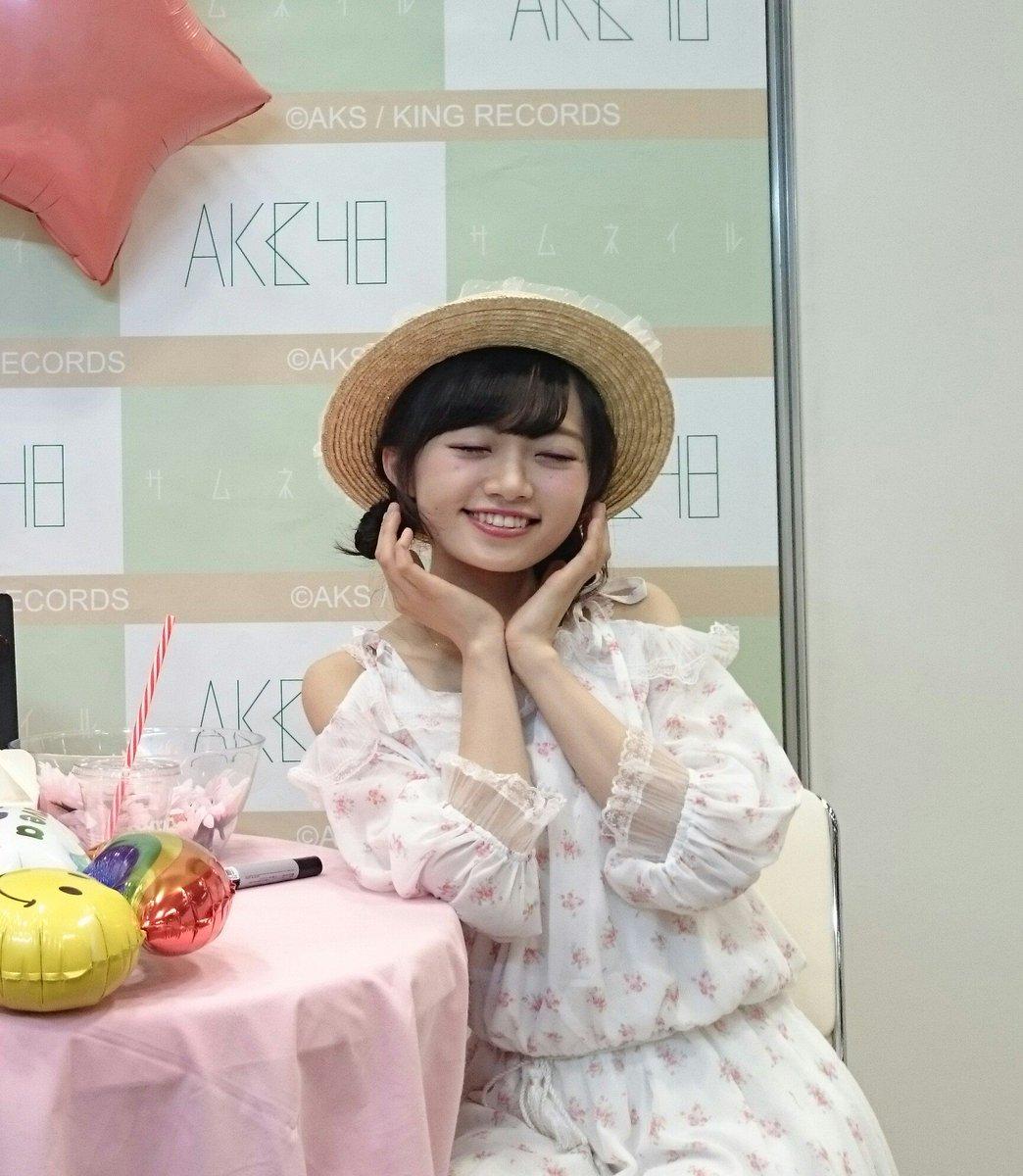 今日も今日とて推しが可愛い😊 幸せな顔のポーズ✨  #りか姫のことが好きだから  #中井りか #NGT48 #写メ会
