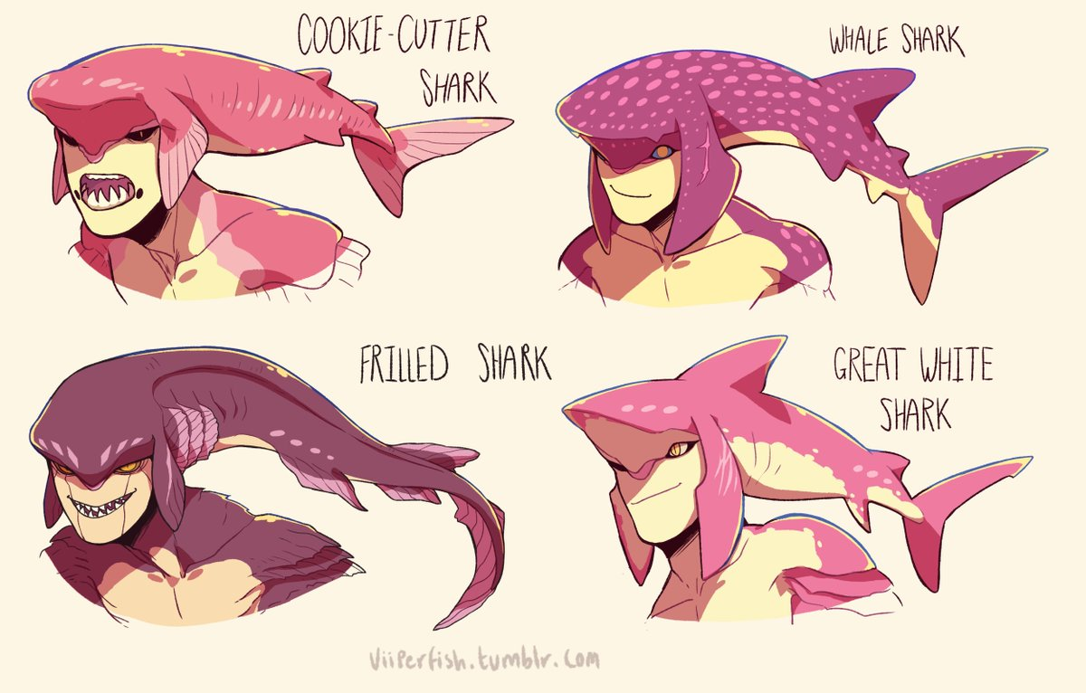 Made some more Prince Sidon shark variants! Some look scary but they'r...