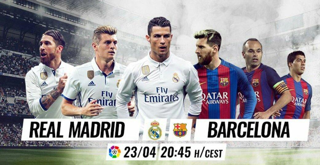 DIRETTA REAL MADRID BARCELLONA Streaming Gratis: dove vedere il grande Clasico di Spagna di Oggi 23 Aprile 2017
