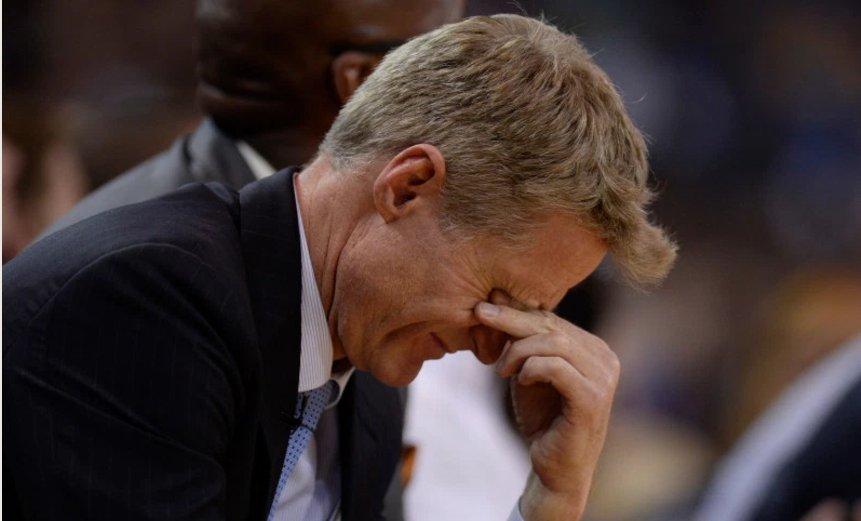 教練Steve Kerr健康情況成為勇士最大隱憂,他或缺席拓荒者的系列賽