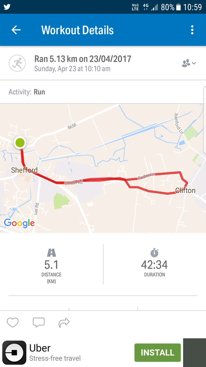 First 5k not on a treadmill #5km #runningoutside #feelingalittleproud<br>http://pic.twitter.com/asTlQJhd2X