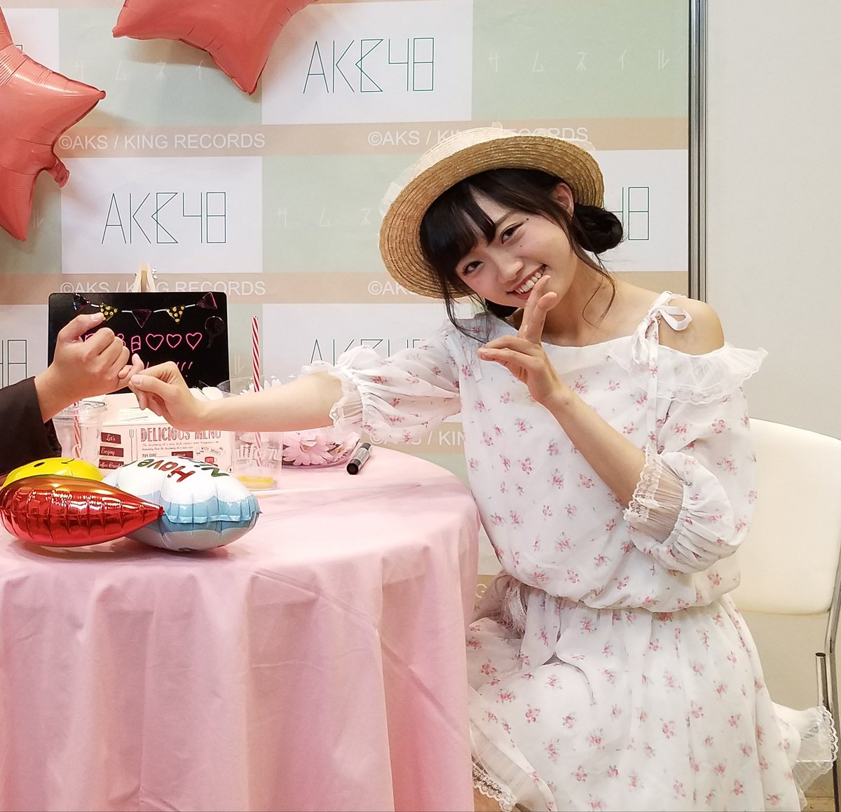 今日もありがとうございました。  #姫のことが好きだから  #AKB48大写真会  #指切り #中井りか