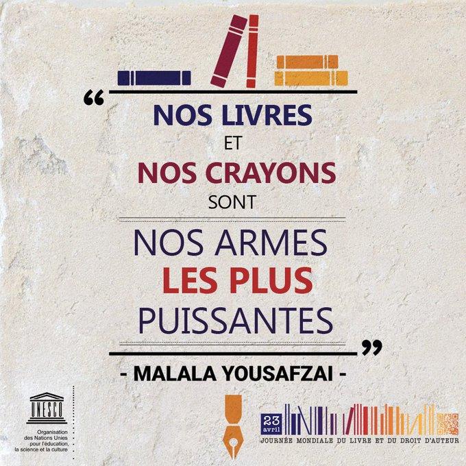 Bonne #JournéeDuLivre📚! Célébrons le pouvoir qu'ont les livres de promouvoir des sociétés ouvertes et inclusives https://t.co/V6xPw5KxaN