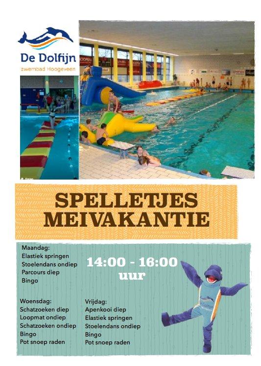 Zwembad Dolfijn Hoogeveen.Zwembad De Dolfijn On Twitter Meivakantie Deze Week Op