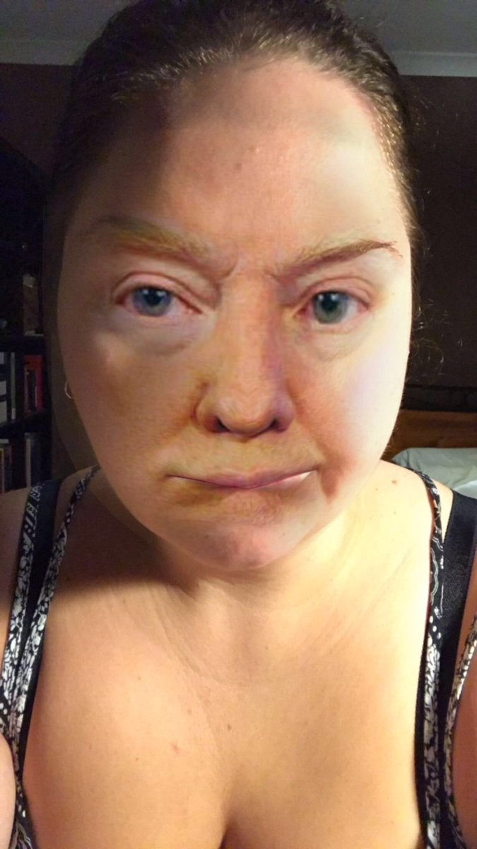 Oh god I just face swapped with Donald Trump and it's horrible
