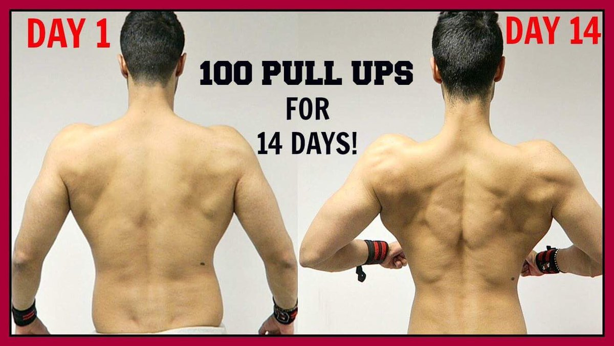 ram ghuman on twitter results of doing 100 pull ups for 14 days