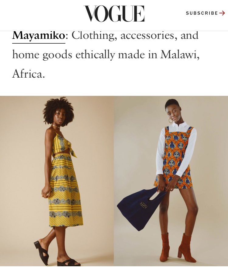 Thank you  #Vogue for sharing our journey on #EarthDay  #sustainable #fashion #ethicalfashion #socent #fairtradefashion #green #fashrev<br>http://pic.twitter.com/KMq3Jn9eaQ
