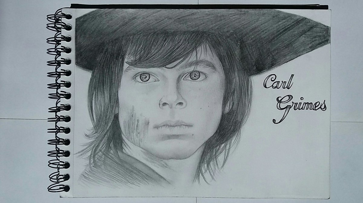 I realy hope you like it @chandlerriggs !! Big love from France  #ChandlerRiggs #Carl #CarlGrimes #TheWalkingDead #TWD #AMC #draw #drawing<br>http://pic.twitter.com/Aj0rRAf3as