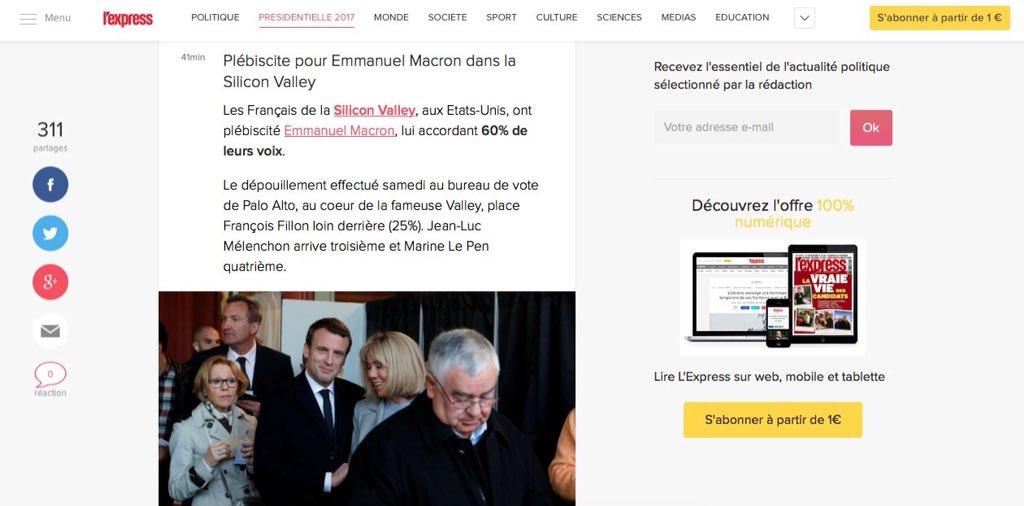 @Manuel_Hollande #ElectionsPresidentielles2017 @csaudiovisuel #lexpress announce #macron election results abroad #censure #ALERTEINFO <br>http://pic.twitter.com/bT1xh1j9uV