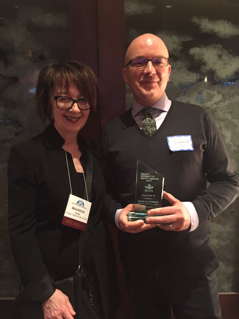 Honoured to be a @BCLTA award winner (and perpetually honoured to be a...