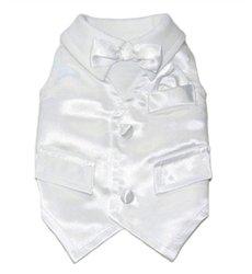 WHITE WEDDING TUX! Grab it:   #dogs #dogtuxedo #puppy #dogsoftwitter @PoshPuppy