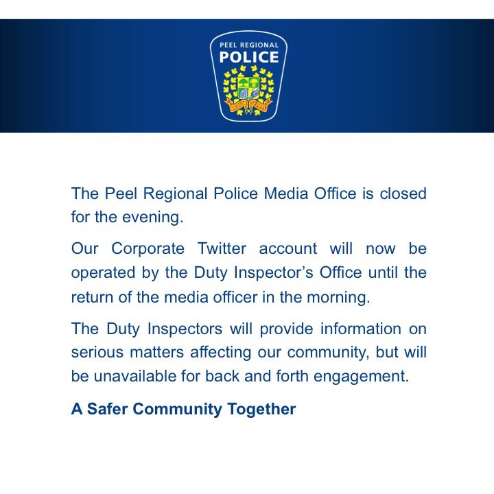 The Media Officer will be returning to the office at 6:00 a.m. https:/...