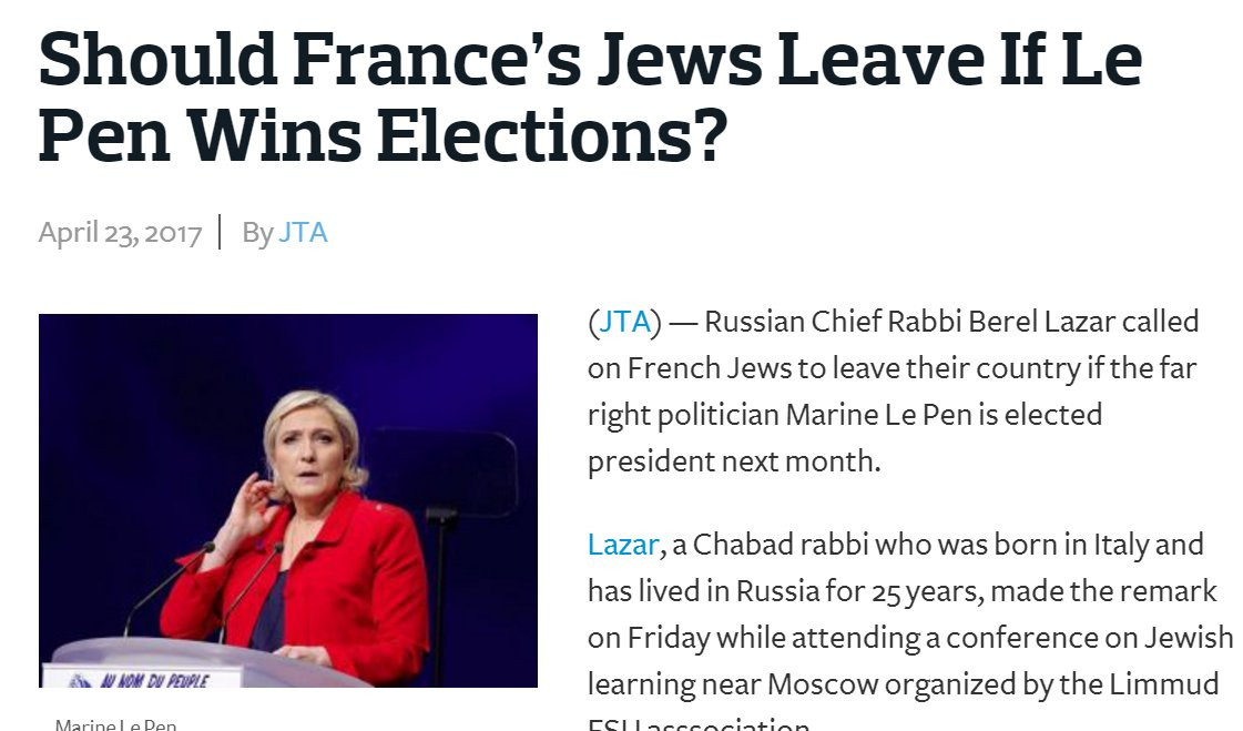 They are using every tactic against Le Pen they used on Trump