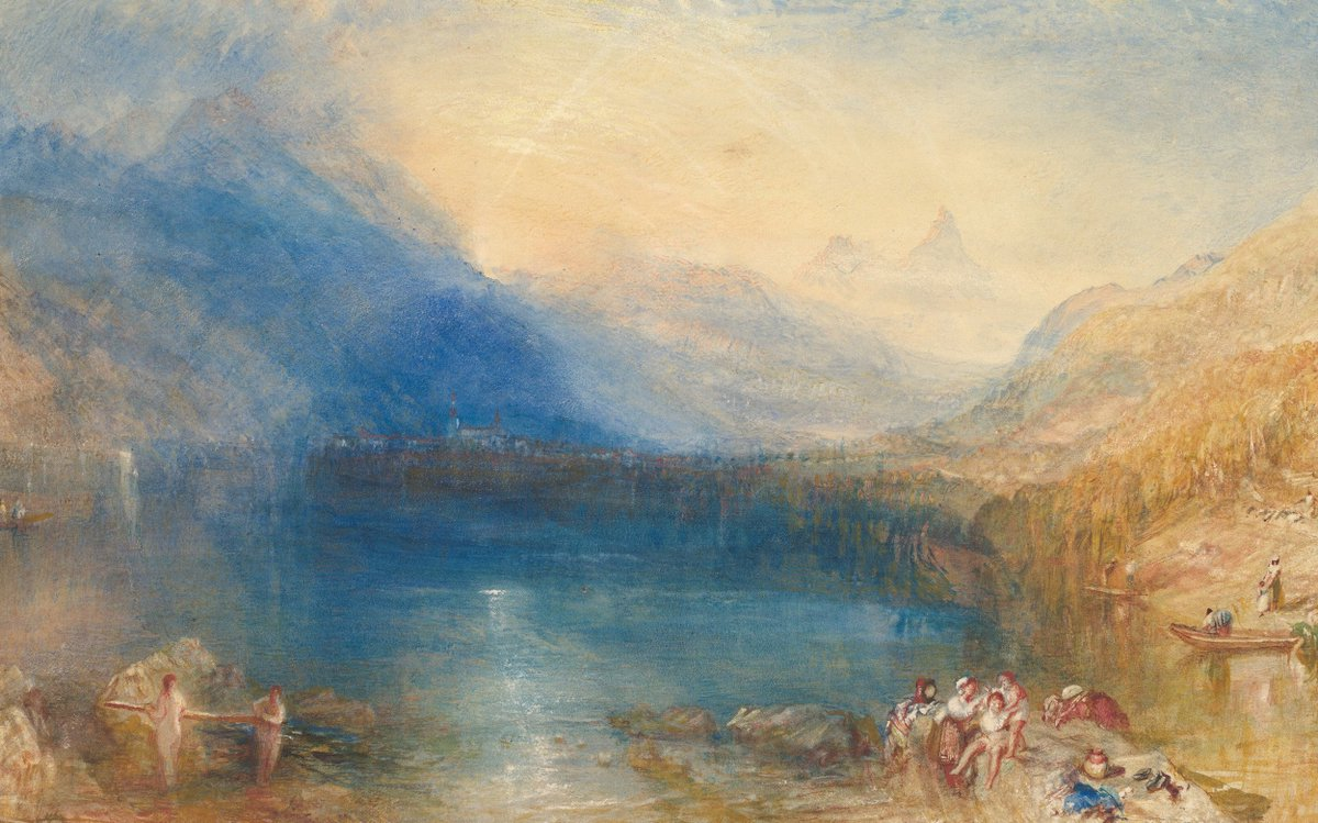 "J.M.W. Turner was born on this day in 1775. His painting, ""The Lake of Zug,"" was commissioned in 1843. https://t.co/ISTjU0dfOP"