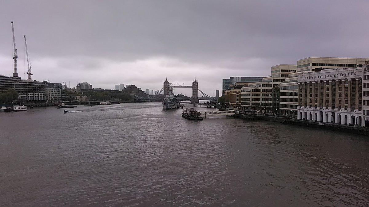 Tower Bridge as viewed from London Bridge #TowerBridge #RiverThames #LondonBridge #HMSBelfast #London https://t.co/23t7Pgeqes