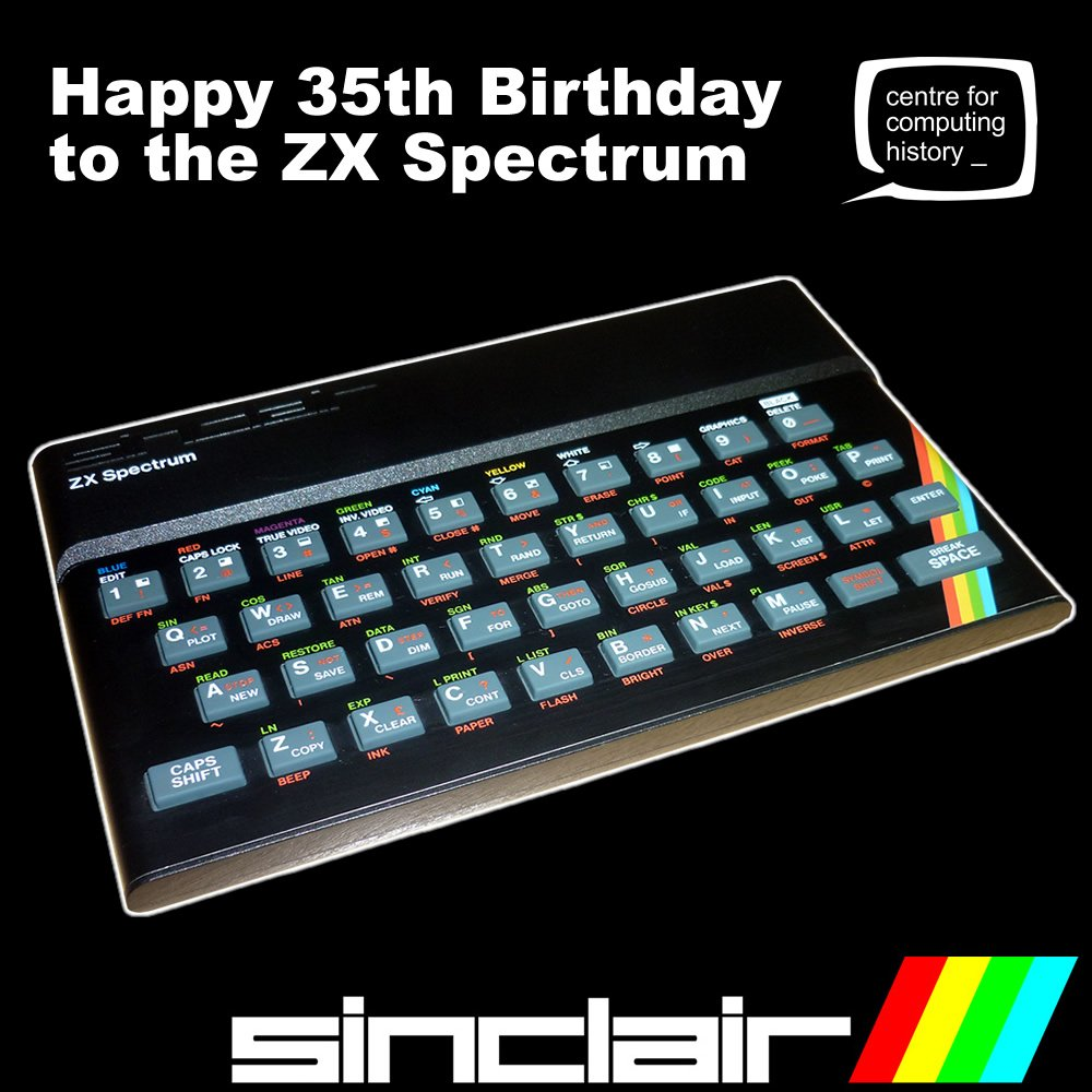 Happy Birthday Speccy!  https://t.co/kAq4RytAJe #Sinclair #Spectrum #GamersUnite #RetroGaming https://t.co/GANMamrAWa