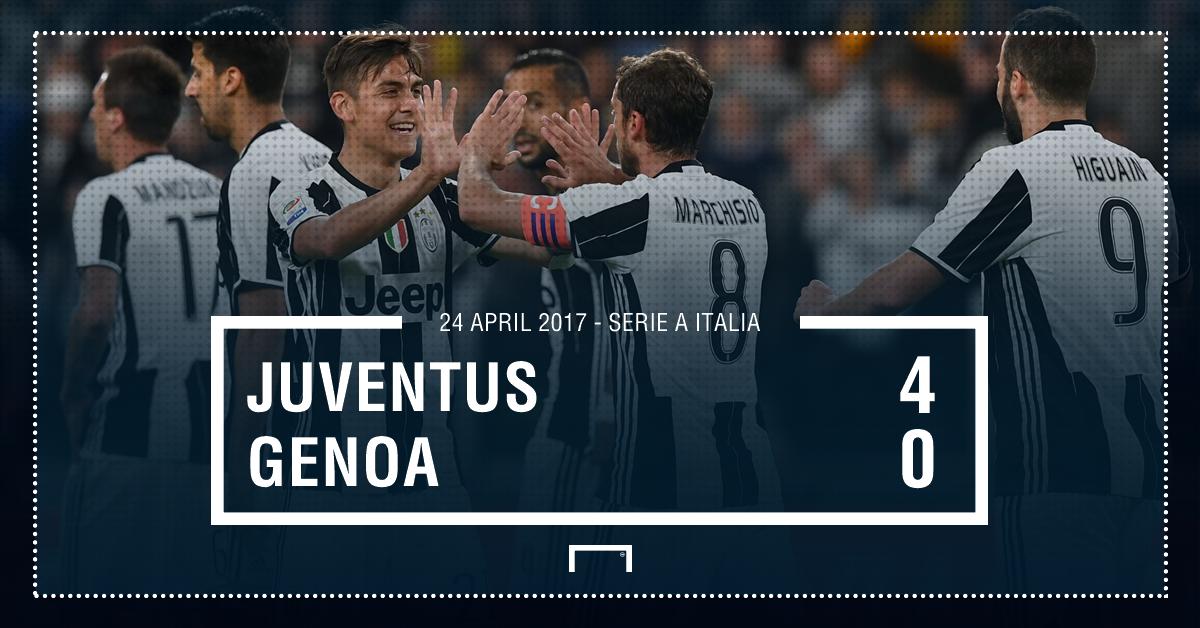 FT! #Juventus 4-0 #Genoa | LIVE:  http:// bit.ly/2oBU3JQ  &nbsp;   #MatchdayGoal<br>http://pic.twitter.com/ipHYpoDuu9