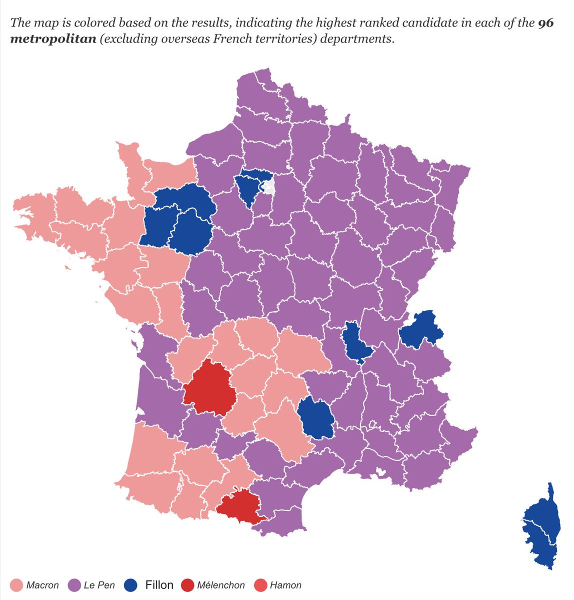 Map Of France Election Results.Data Debunk On Twitter France Election Map Candidates