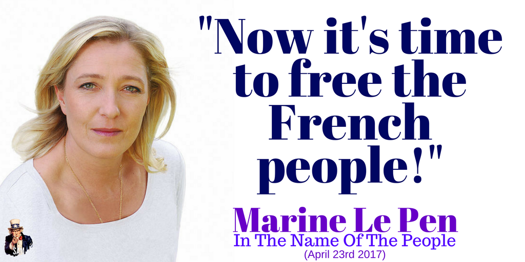 Marine Le Pen: &quot;Now it&#39;s time to free the French people!&#39;  The battle is not over. Now let&#39;s beat #Macron and the #EU!  #Présidentielle2017 <br>http://pic.twitter.com/iocIUGhZ99