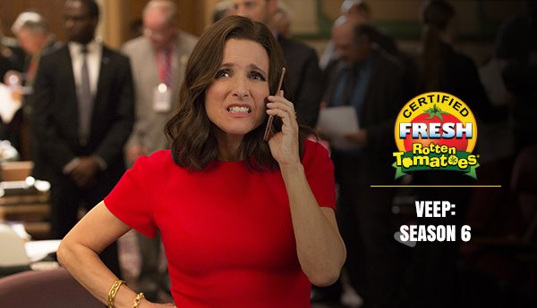 The results are in! @VeepHBO Season 6 has been elected #CertifiedFresh!