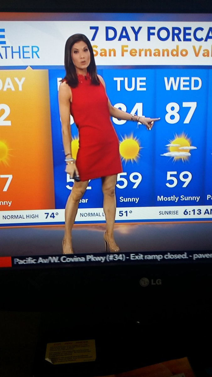 Pole Dancing Weather Girl?? She&#39;s Got the Stiletto Shoes 4 a DUO or 2 LOL  #KTLA <br>http://pic.twitter.com/YPeKjjYgix