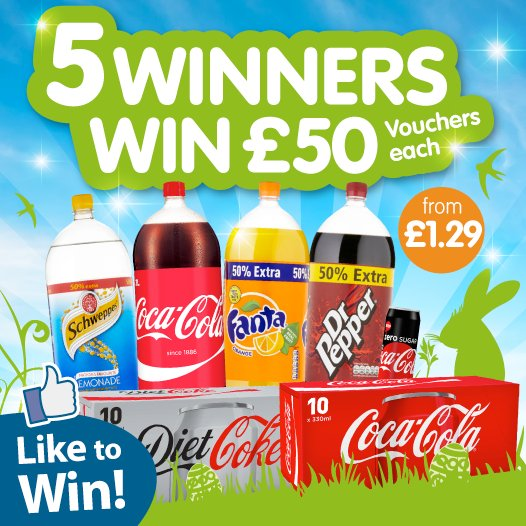 #COMPETITION ENDS TOMORROW FLW/RT for a chance to #WIN 1 of 5 £50 B&amp;M Vouchers courtesy of @CocaCola_GB Competition ends 23:59 24/04/2017<br>http://pic.twitter.com/s7opYKNxyY