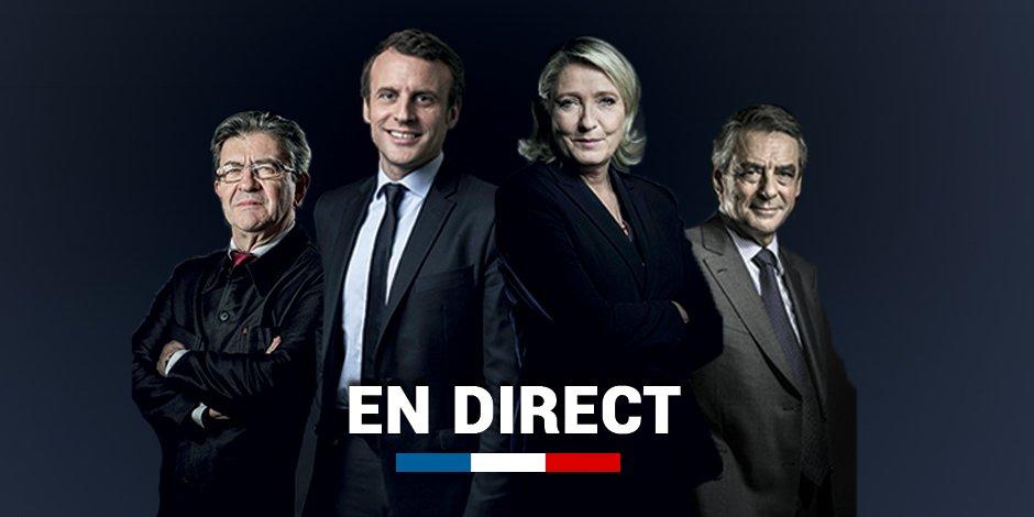 🇫🇷🔴Premiers résultats officiels  - Macron: 24% - Le Pen: 21% - Fillon: 21%  - Mélenchon: 19%  https://t.co/2jglgfovFZ  #radioLondres