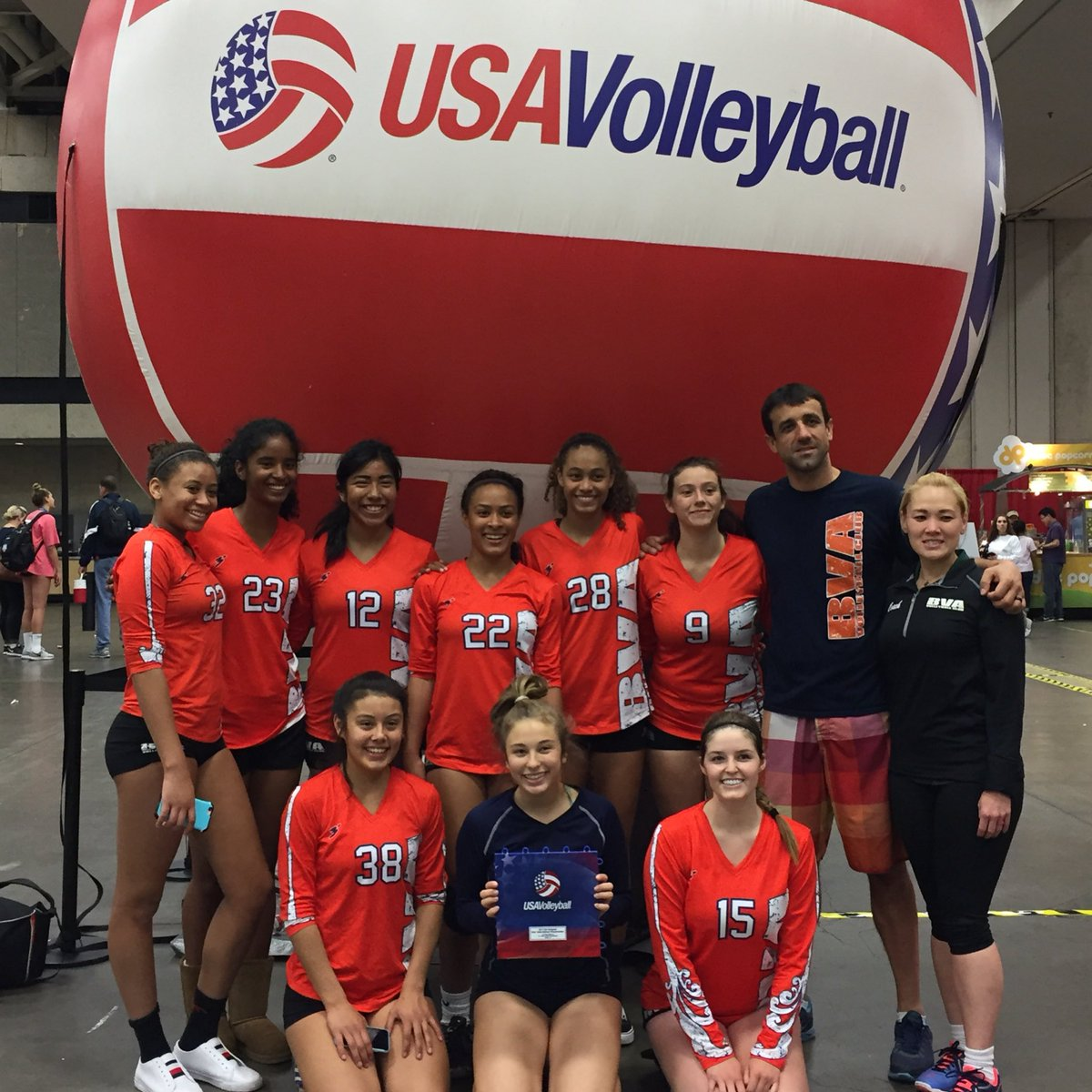 18-National - Congrats on winning your bracket at #GJNC18! You battled hard for three days &amp; we&#39;re proud of you! #bvastrong #volleyball <br>http://pic.twitter.com/40Ea63g9Ep