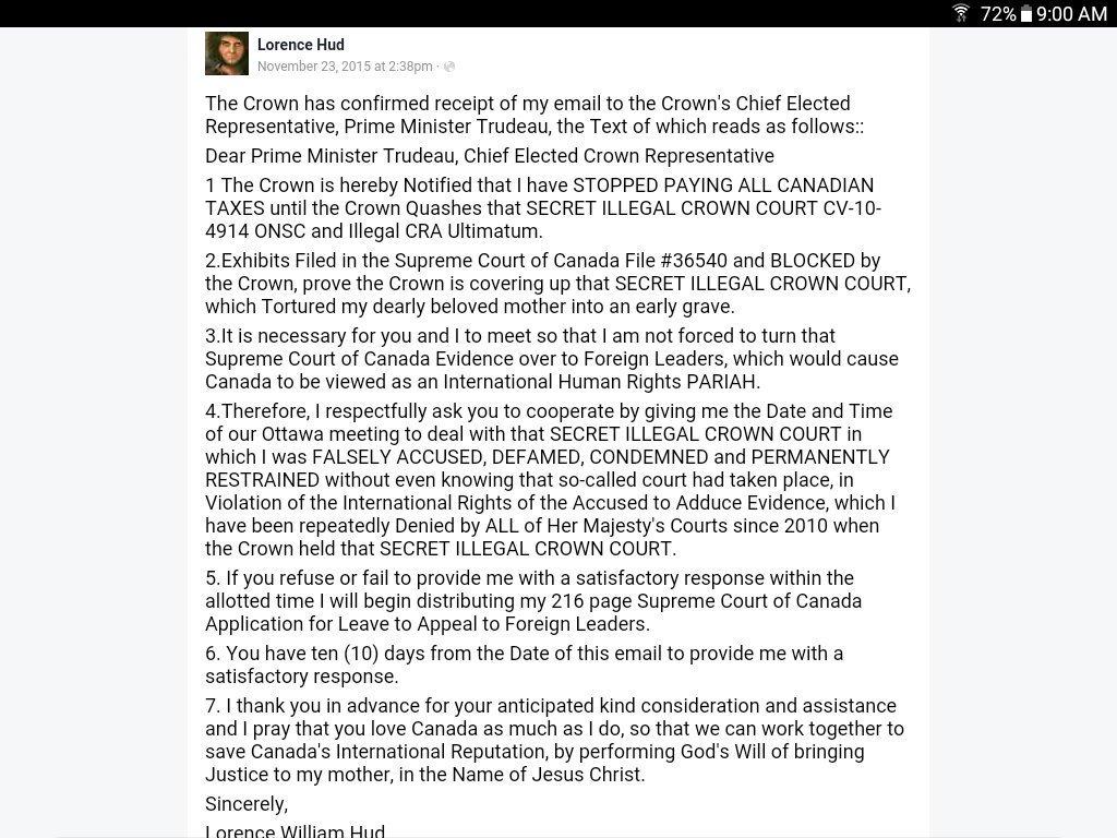 Thx4asking. VERYsimple! No Notice = NO COURT = #TRUDEAU #SecretIllegalCrownCourt MUST BE QUASHED! Letter2PM&amp;AFFIDAVIT2US Embassy #Justice <br>http://pic.twitter.com/MxWVwjFatf