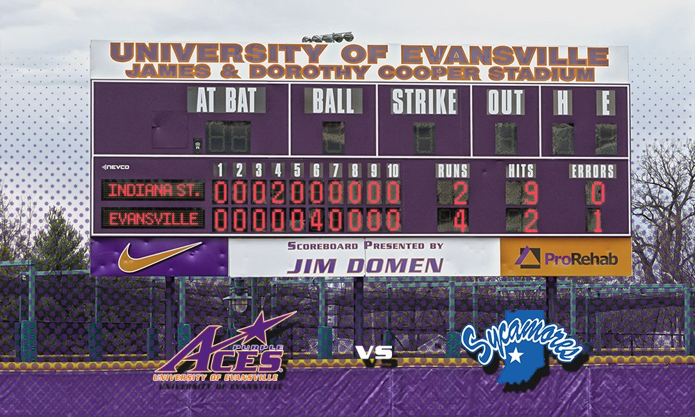 SB: @UEAthletics_SB earns a 4-2 win in series finale against Indiana State.  #UE home next weekend to face Illinois State.  #AcesAces<br>http://pic.twitter.com/NbhQCSKJXv