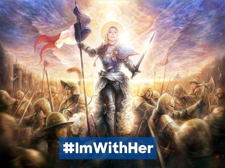 Congratulations to #France&#39;s Modern Day Joan of Arc !! #MarineLePen. What a Beautiful Victory !!  2nd round HERE WE COME !  #Marine <br>http://pic.twitter.com/9S4Q1wDzkg