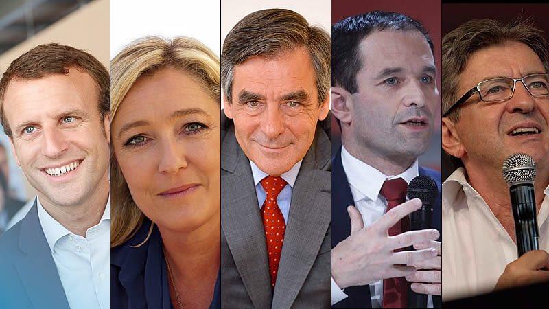 Por el momento los resultados: #Macron 24% #Le Pen 21% #Fillon 21%  #Mélenchon 19%  #eleccionesfrancia2017pic.twitter.com/MUPyKsfXtz