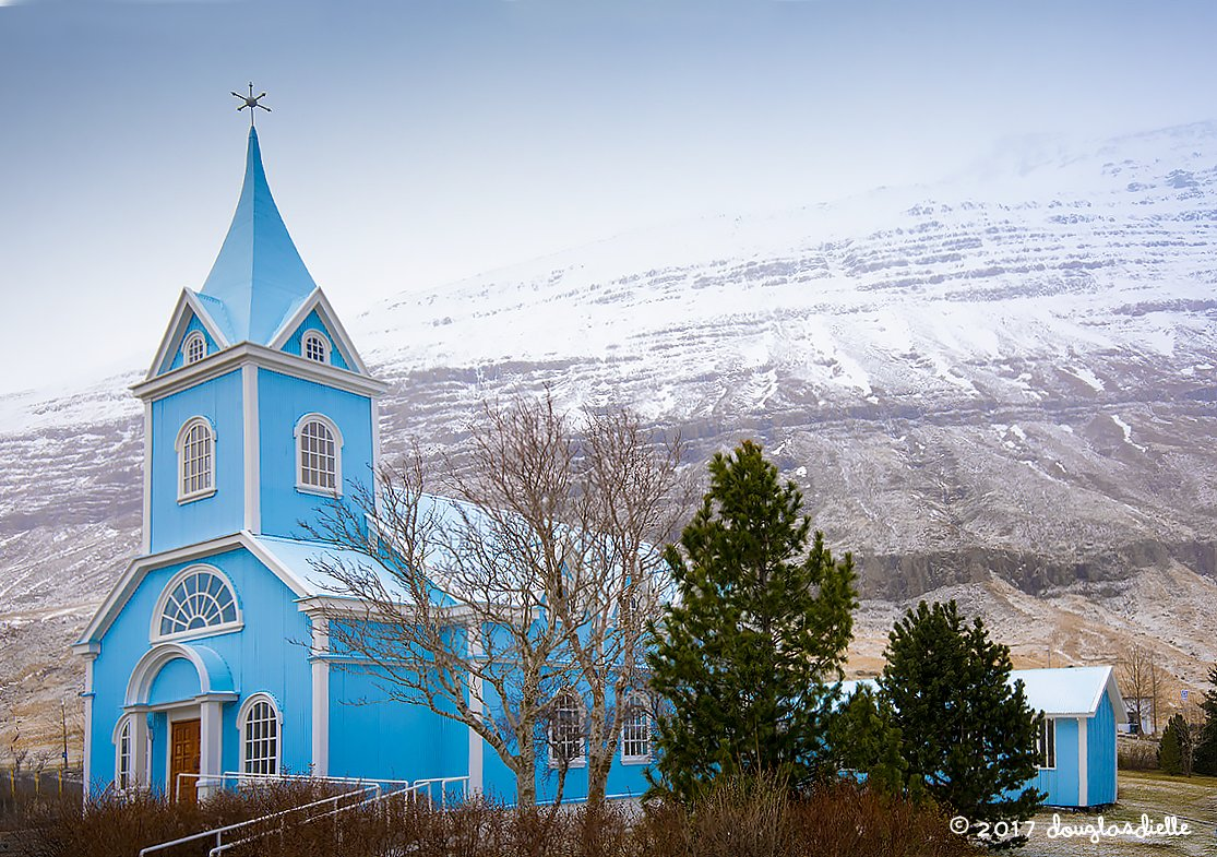 The Blue Church in Seyðisfjörður, Iceland