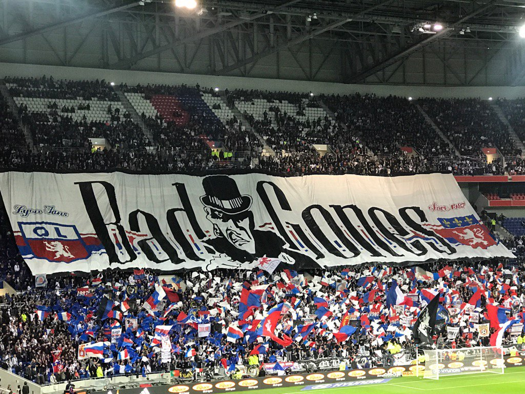 Superbe Tifo Bad Gones #Lyon #OLASM #ParcOL #TeamOL<br>http://pic.twitter.com/liOvMdA3dM