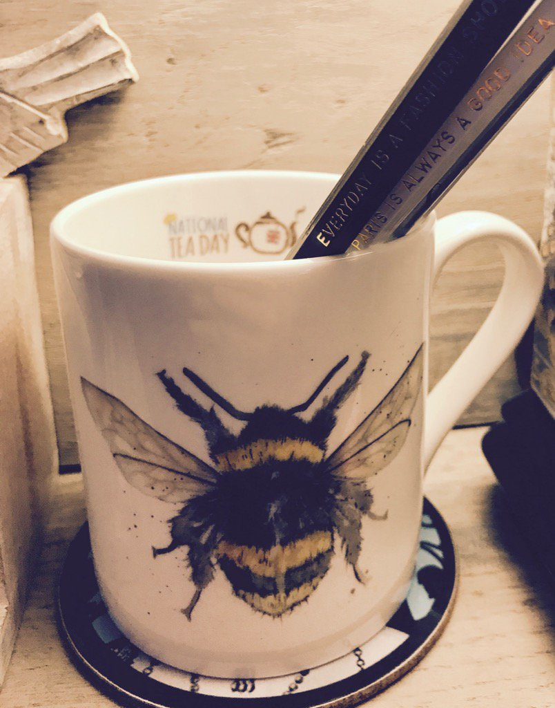 Every day is #nationalteaday with my official @Nationalteaday @SarahBoddy_ mug 💛😍☕️
