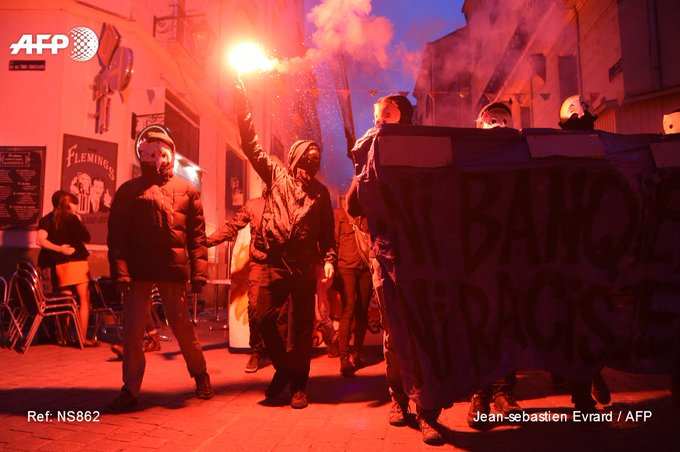 #France : Protests following the first round of presidential election.