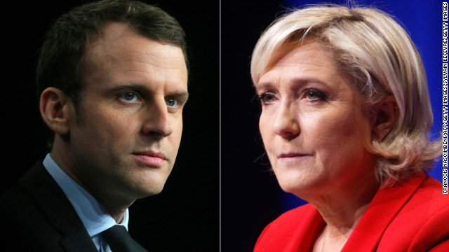 French presidential election: Far-right&#39;s Marine le Pen to face centrist Emmanuel...  http:// ln.is/ALnGN  &nbsp;   by #KTLA via @c0nvey<br>http://pic.twitter.com/ps4ka8fnhg