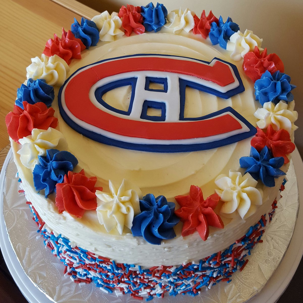 Remarkable Bellamiassweettreats On Twitter Montreal Canadiens Cake Personalised Birthday Cards Petedlily Jamesorg