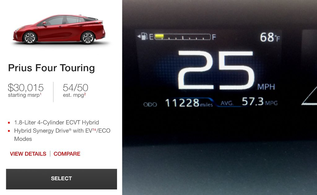 Dear @Toyota…if you&#39;re &#39;n4A#mpg/#benchmark #testdriver…I&#39;m available… #Prius 4 #touring #economy …5 mpg over estimate? Am I Special?<br>http://pic.twitter.com/9NIyynhrN6