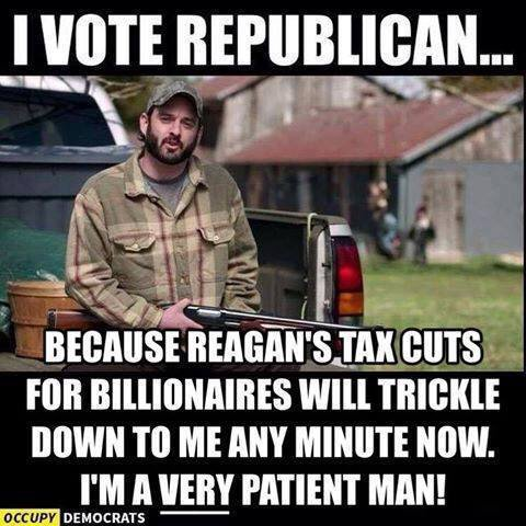 I guess some people just don't get the concept of being trickled down upon #RESIST #VoodooEconomics #VoteAgainstYourOwnInterests #MAGA