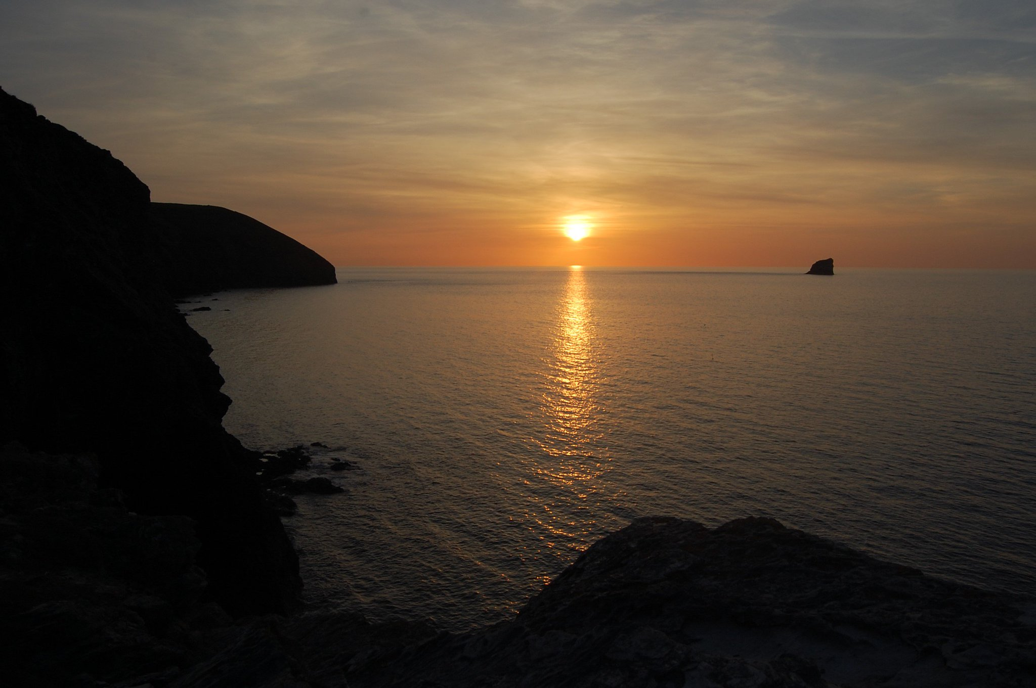 Sundown on Sunday at St Agnes, Cornwall