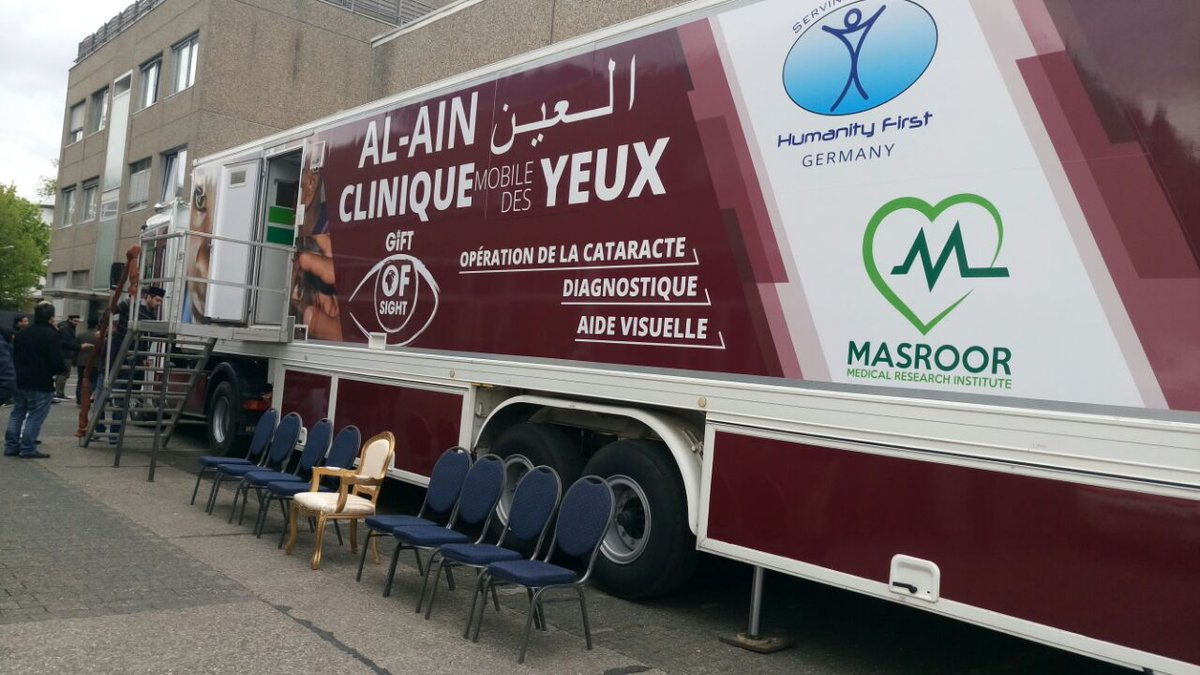 Alhamdulillah  today our &#39;Al Ain&#39; Mobile Eye Clinic was inaugrated by #khalifaofislam. @masroor_mri @humanityfirstDE  #Ahmadiyya #Africa <br>http://pic.twitter.com/0ItaBZxv3h