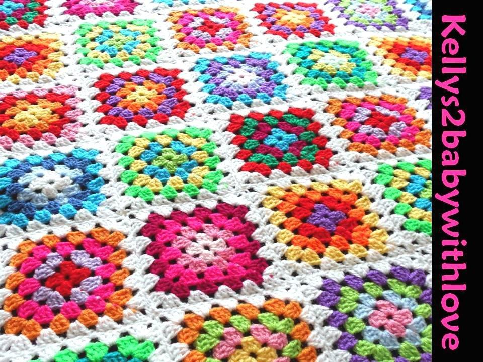Handmade Crochet White &amp; Multi-Coloured Granny Square Baby Blanket -…  http:// etsy.me/2kL4gFT  &nbsp;   #Blanket #GrannySquare<br>http://pic.twitter.com/g3xCoe7ch5