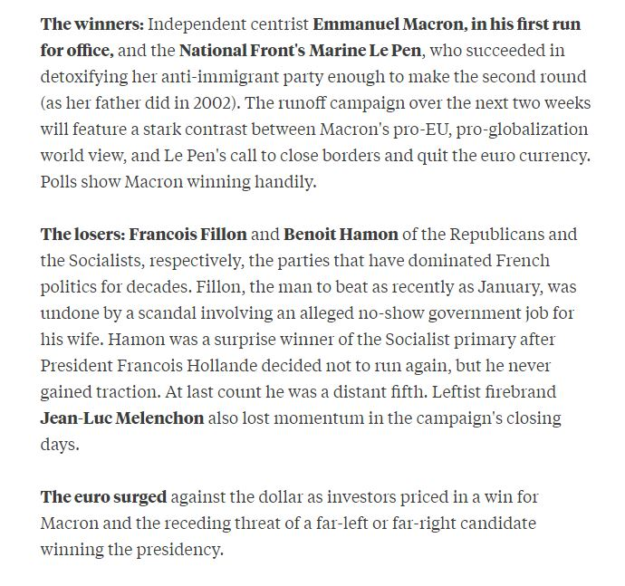 Here are the key takeaways from the first round of voting in France  https:// bloom.bg/2oBThwu  &nbsp;   #Presidentielle2017 <br>http://pic.twitter.com/PaudN7lkWk